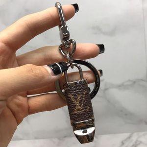 Louis Vuitton Monogram Bag Charm Key Ring Whistle